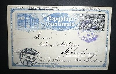 Postkarte - Republique Guatemala - Hamburg - 1897/1898