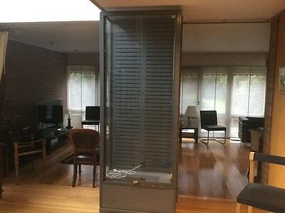 Large Steel Shop Display Cabinet with plate glass shelving