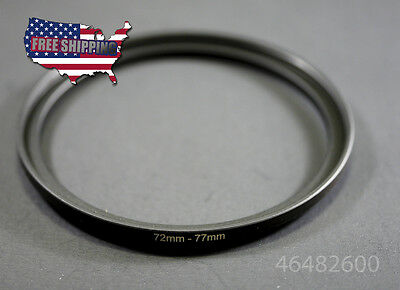 72-77 MM 72 MM 77 MM 72 to 77 Step Up Ring UV CPL Metal Filter Adapter Accessory