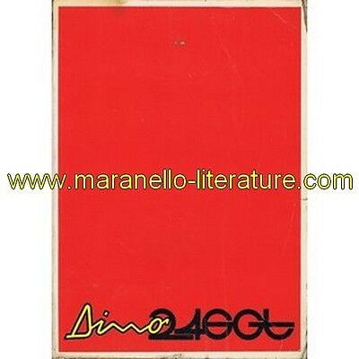 (2277) 1972 Ferrari Dino 246 GT owner's manual 72/72 from car s/n 02132 (Operati