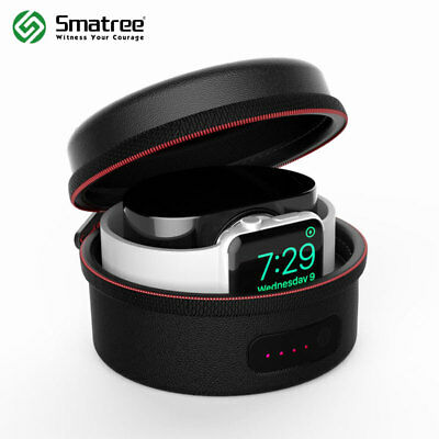 Smatree 3000mAh Charging Case for Apple Watch Series 1, Series 2, Series 3 Black