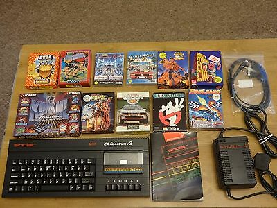 Sinclair ZX Spectrum 128k +2a computer. Manual, Scart lead, Quality games.