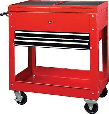 Hilka Tool Storage Parts Trolley New Red Heavy Duty Mobile 2 Drawer Chest Tc310