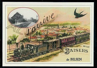 BILSEN -...... train  souvenir creation moderne serie numerotee