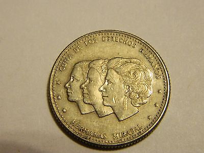 1986 Dominican Republic  25 Centavos Human Rights Equality Coin ---Lot #3020