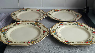 Four 1927+  John Maddock & Sons Dinner Plates In Minerva  A Floral Pattern