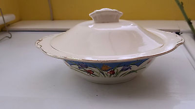 11938 Tureen Base By Morley Ware  With A Lid By Unknown Maker  Tulip Pattern