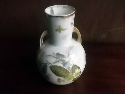 1893 + George Jones Small Vase With Two Handles   Primrose Pattern