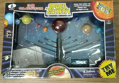 3D Interactive Solar System Model Space Gallery Motorised Revolving Action Boxed