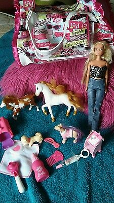 Barbie Doll. Bundlewith Pets & holdall