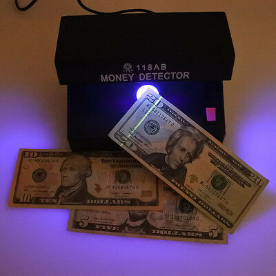 Mains Powered UV Light Counterfeit Forged Fake Bank Note Money Detector Checker