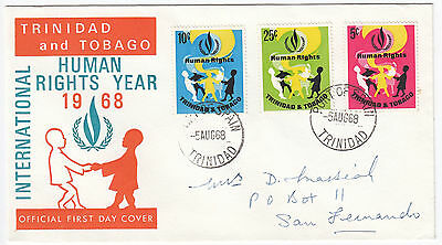 Y6064 Trinidad and Tobago First day cover Human Rights Year 1968