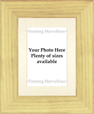 Oak Effect Photo Picture Frame with Ivory Mount - Choose size