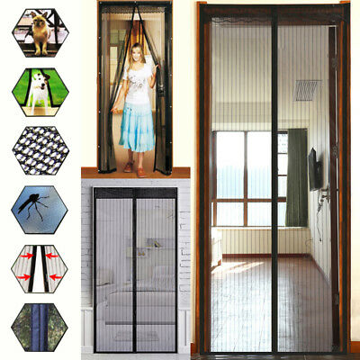 Magnetic Screen Door Net Anti Mosquito Magic Mesh Hands-Free Bug Curtain Patio