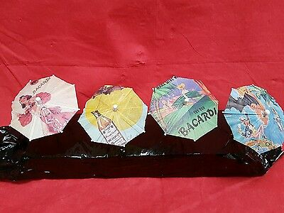 "16 x bacardi Cocktail Drinks Umbrella umbrellas  small parasol approx 4"" long"