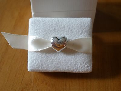 Genuine Authentic Pandora Sterling Silver 925ALE Silver Heart Bead/Charm