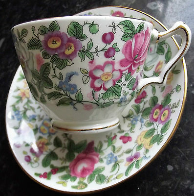 Crown Staffordshire Thousand Flowers Mille Fleur cup and saucer