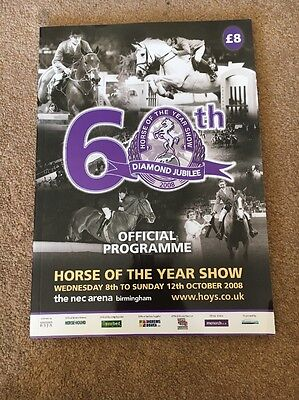 Horse Of The Year Show Programme 2008