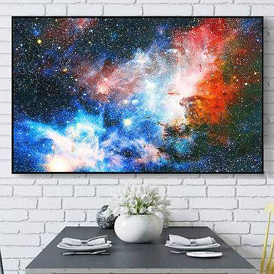 "Universe Space Galaxy Planet Nebula Art Silk Cloth Poster For Wall Decor 43""x24"""