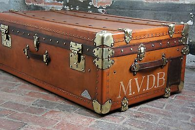 Stunning Antique French Steamer Trunk Antique Luggage