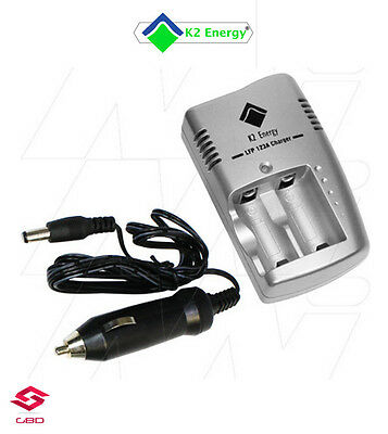 K2 Energy K2C3V1A Smart Charger Lithium Iron Phosphate (LiFePO4) for 123A
