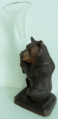 Antique Swiss Brienz Black Forest Hand Carved Bear hige 9 inch - 6,25 inch