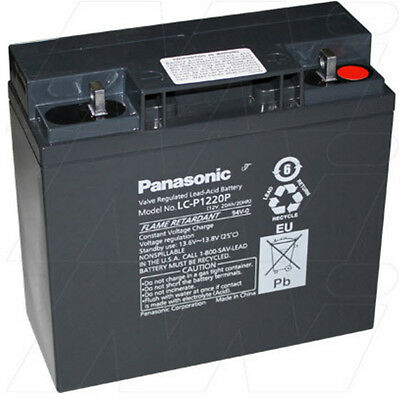 Panasonic LC-P1220P 12V 20Ah Sealed Lead Acid Battery Standby UPS Rp. LC-X1220P
