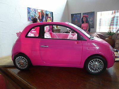 Barbie Car - pink Fiat with seatbelts
