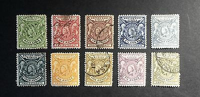 BRITISH EAST AFRICA 1896 - Part set of 10 stamps mainly used - High Catalogue