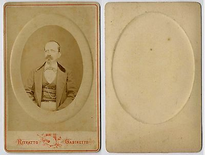 UOMO CDV1047 Foto Carte da Visite Form.Album Originale all'Albumina 1850 ca