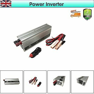 1500W Modified Sine Wave Auto Power Inverter Car DC 12V to AC 240V UK Stock New