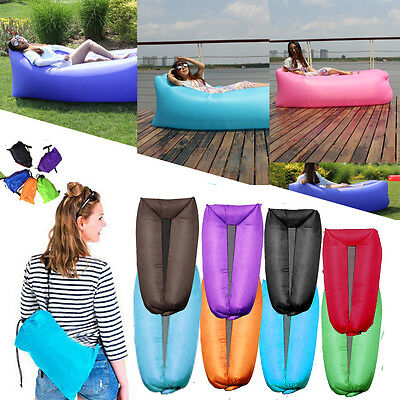 Portable Inflatable Air Bed Lounger Sofa Chair Sleeping Bag Beach Couch Outdoor