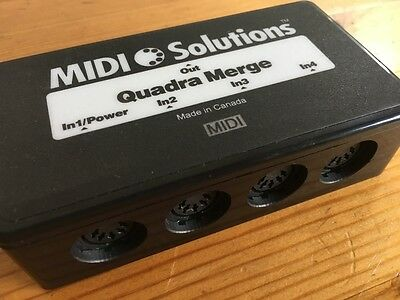 Midi Solutions Quadra Merge, in very good condition, with instructions