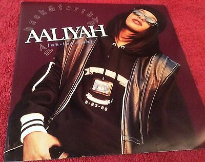 "Aaliyah - Age Ain't Nothing But A Number - 12"" Vinyl Record - 1994 Uk Release"