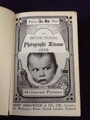 Rare Book - The BRITISH Journal Photographic Almanac 1939 Photography Cameras