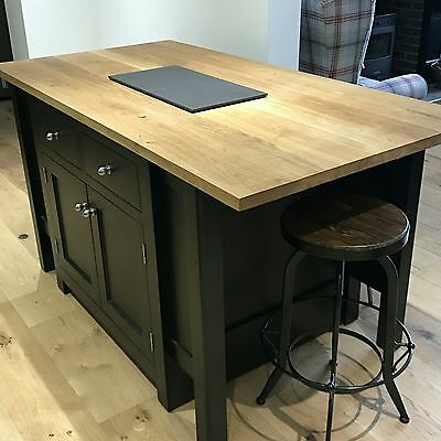 Kitchen island made to measure bespoke industrial