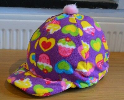 Cupcake Cup Cake Fleece Skull Cap Riding Hat Helmet Cover With Pompom