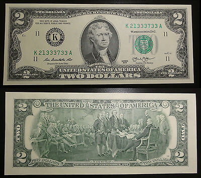 2 Dollar Schein Dallas, Texas (K) 2013 UNC. – Two Dollars Dallas, TX K USA unc.