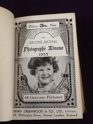 Rare Book - The BRITISH Journal Photographic Almanac 1935 Photography Cameras