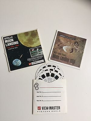 Viewmaster Reels x3 Apollo Moon Landing July 20th 1969