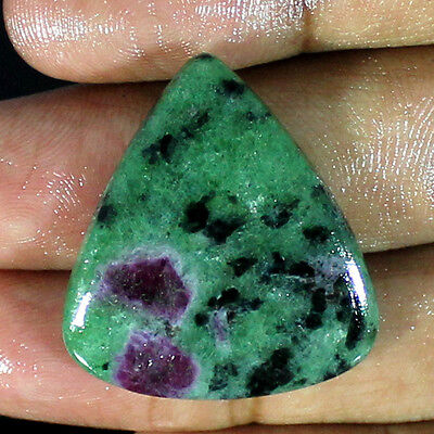40.20 Ct Natural Superb Ruby Zoisite Pear Cabochon Loose Gemstone Stone_Artt