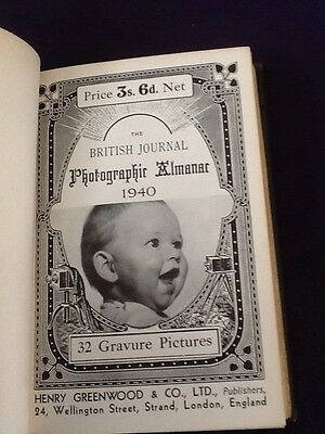 Rare Book - The BRITISH Journal Photographic Almanac 1940 Photography Cameras