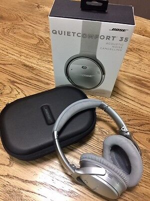 Bose - QC35 Noise Cancelling Wireless Headphones - As new, silver