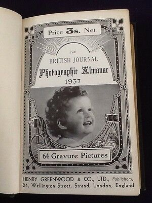 Rare Book - The BRITISH Journal Photographic Almanac 1937 Photography Cameras