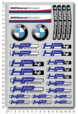 HP4 motorcycle stickers decals bmw motorsport S1000RR racing hp Performance blue