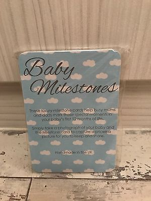 Dottie Crafts Handmade Baby Milestone Cards For Boys