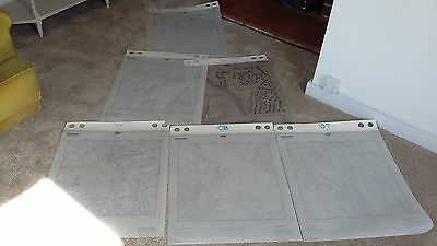6 Various Large Ordnance Survey Maps Plans of Hastings Area 1:2500