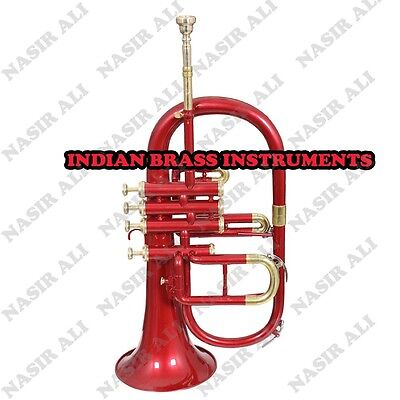 IBI RED LACQUER FLUGEL HORN Bb PITCH FOR SALE WITH FREE HARD CASE AND MOUTHPIECE