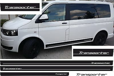 VW T4 T5 T6 Rayas laterales Kit TRANSPORTER Pegatinas De Coches COLOR DESEADO