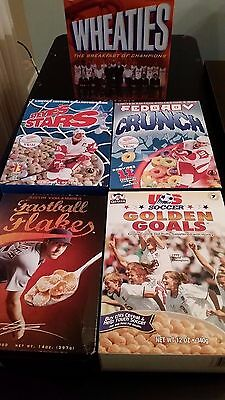 Vintage Lot of 5 Variety Collectible  Cereal Boxes.  Sealed!